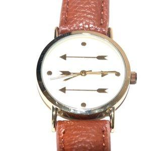 Francesca Arrow Faux Leather Watch